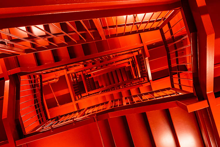 Red staircase, San Francisco