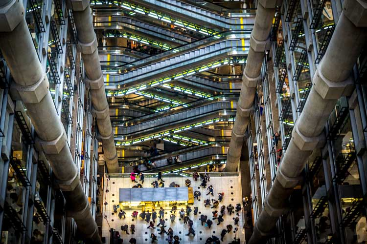 Interior of Lloyds of London