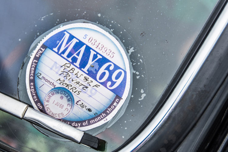 Old tax disc