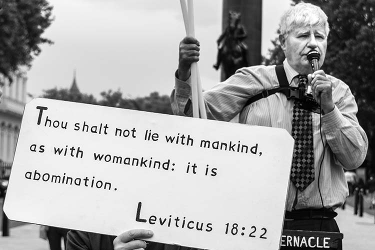 The evangelical religious protesters