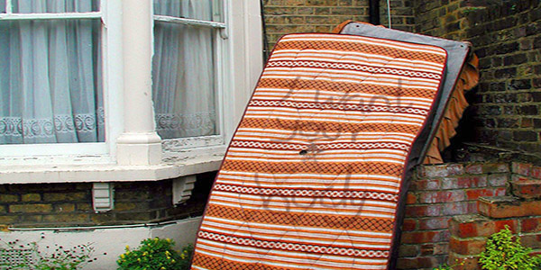 Fly tipped sofa on the streets of London