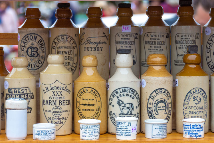Old bear bottles and labels