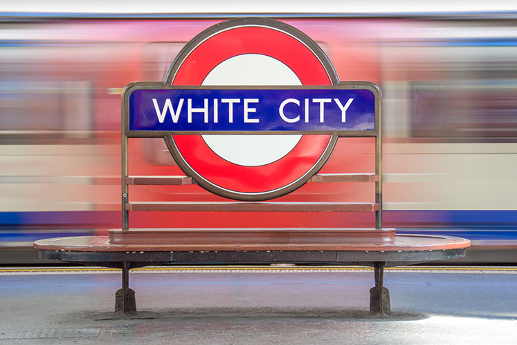 White City underground sign