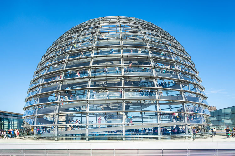 Outside the Reichstag dome