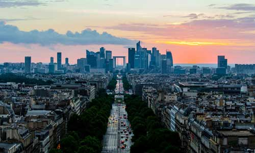 city life project category Paris city oblique view