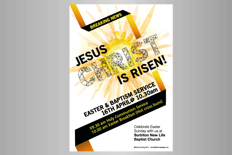 Easter poster in A4