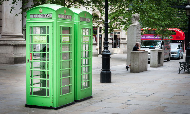 Green phone boxes
