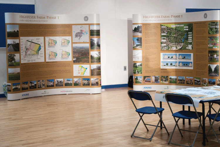 exhibition panels and workshop materials