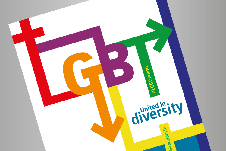 LGBT poster in close up