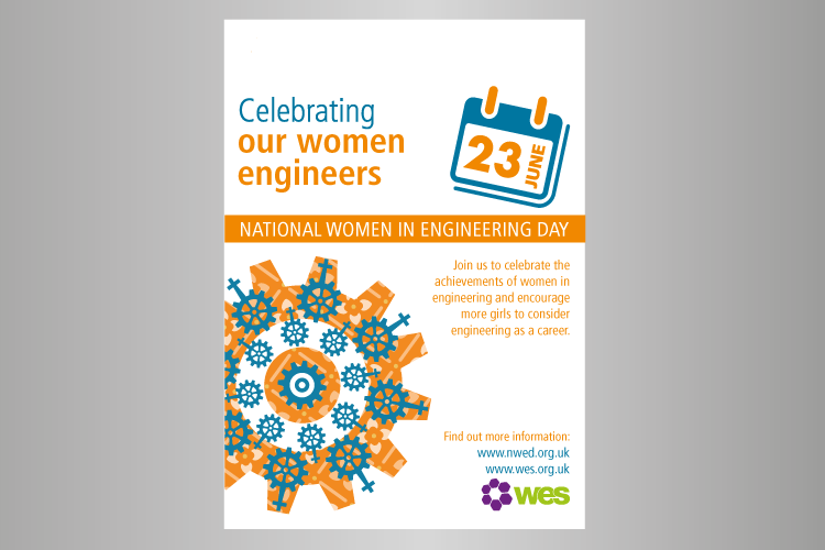Women in engineering poster in A4