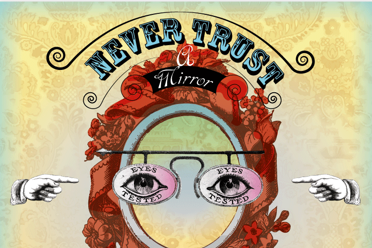 Never trust a mirror in illustration detail