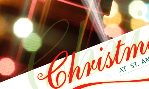 Christmas promotional poster for church services 2010
