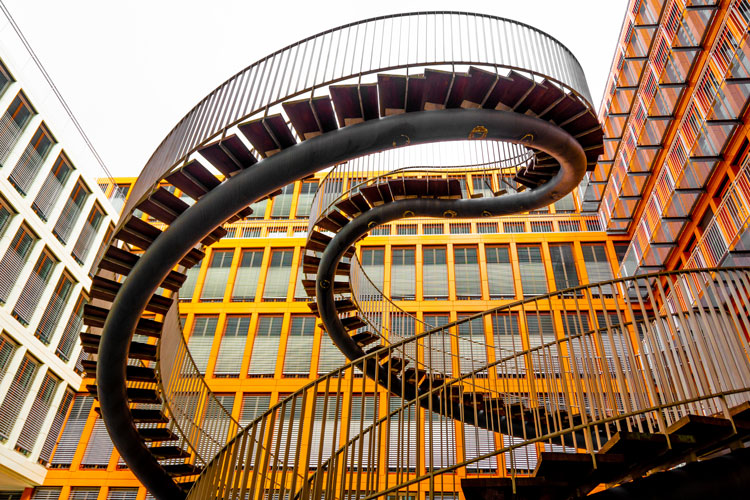 Staircase art sculpture in Germany