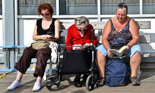 street life category three women very different stereotypes all reading together